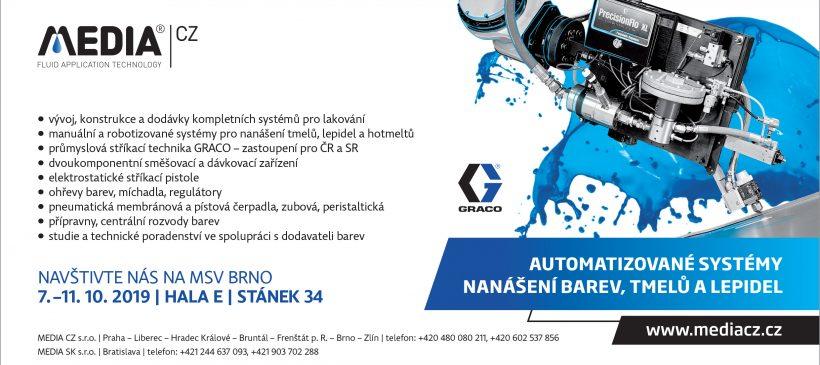 Navštivte nás na MSV Brno ve dnech 7. – 11. 10.2019